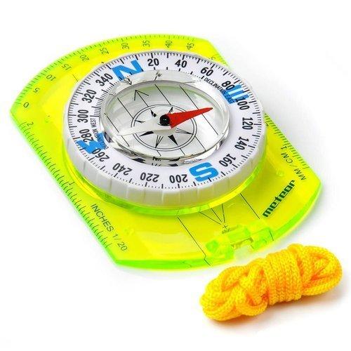 Kompas z linijką Meteor Compass turystyczny + sznurek