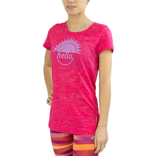 Koszulka Reebok RH Burnout damska t-shirt przedłużany sportowy termoaktywny