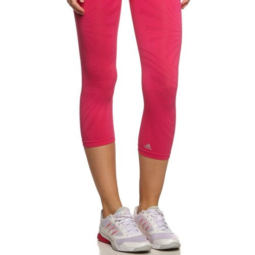 Legginsy 3/4 Adidas AdiPure damskie getry sportowe fitness