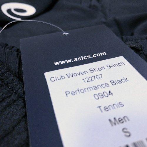 Spodenki tenisowe Asics Club Woven Short 9-Inch męskie sportowe termoaktywne