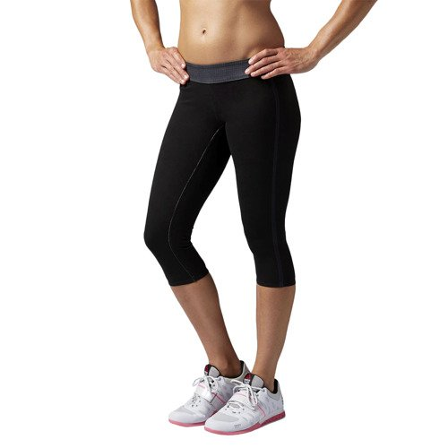 Spodnie 3/4 Reebok CrossFit Reversible damskie dwustronne legginsy getry termoaktywne