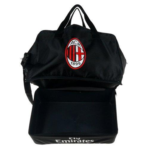 Torba sportowa Adidas AC Milan Football treningowa piłkarska z podwójnym dnem
